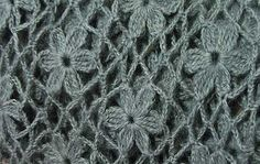 WOW! flower crochet stitch - step by step photo tutorial with diagram for each step!