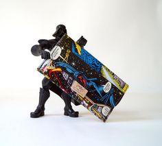 Tabaktasche STAR WARS & DARTH Vader Comic upcycling Unikat! Tabakbeutel Krieg der Sterne Starwars Comic Tasche Recycling handmade in Berlin von PauwPauw auf Etsy