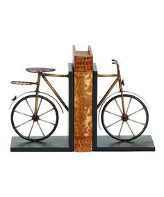 Look at this #zulilyfind! Metal Bike Bookends #zulilyfinds