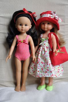 Robe et maillot pour poupée 33 cm compatible Chéries Corolle