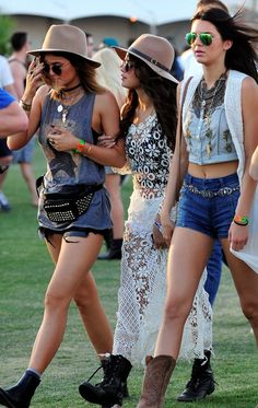 Coachella style from selena kylie and kendall