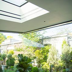 Image gallery showing recessed blinds in windows, gables and skylights. Blinds And Curtains Living Room, Ceiling Curtains, Skylight Blinds, Skylights, Deck Enclosures, Electric Blinds, Bathroom Blinds, Modern Blinds, Garage Door Design