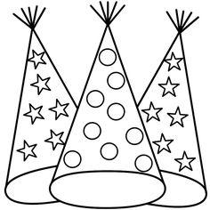 Party Hat Coloring Page - 28 Party Hat Coloring Page , 47 Birthday Hat Coloring Page Free Coloring Pages Happy Birthday Coloring Pages, New Year Coloring Pages, Coloring Pages For Boys, Animal Coloring Pages, Free Printable Coloring Pages, Free Coloring Pages, Coloring Sheets, Coloring Books, Adult Coloring