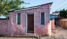Pink house in Otrabanda area @Curacao