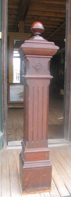 Salvaged newel post