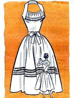 1950s Dress Pattern Marian Martin 9048   Summertime    -World fabric/leather/andorBrocades