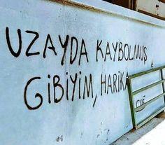 duvaryazisiyalniz-uzay - My WordPress Website Wall Quotes, Book Quotes, Life Quotes, Street Graffiti, Film Aesthetic, Purple Aesthetic, Mood Pics, Funny Photos, Cool Words