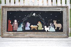 O Holy Night - Primitive Wool Applique Nativity PATTERN - UGM125