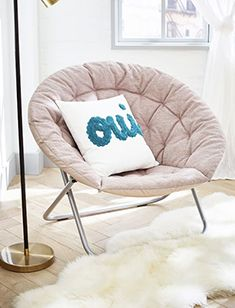 dorm Oversized Furniture, Metal Canopy, Round Chair, Kiln Dried Wood, Pottery Barn Teen, White Gloves, Acacia Wood, Our Kids, Wood Veneer