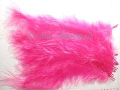 ♥PLU2-02♥ 10 PLUMAS NATURALES TEÑIDAS  FEATHER COLOR ROSA  13-15 CM♥