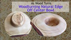 Woodturning Natural Edge Off Center Bowl