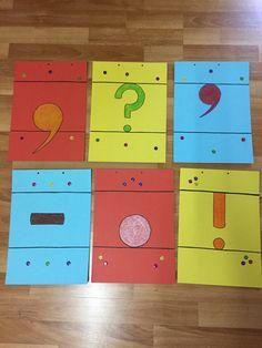 2.sınıf noktalama işaretleri. Renkli mukavvalara noktalama işaretlerini çiziyoruz. Bu materyalle bir drama etkinliği gerçekleştirilebilir.