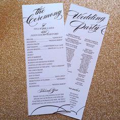 Elegant Printable Wedding Program Catholic by KarlyKDesignShop