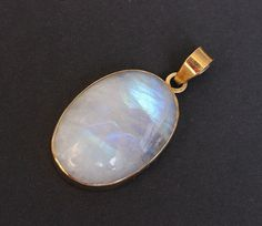 14k gold moonstone Pendant  Natural Moonstone by Studio1980, $475.00