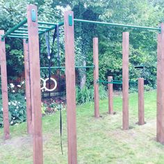 Crossfit Jones Ninja Warrior Gym A Delicious Way To Eat Heart Smart. Outdoor Pull Up Bar, Outdoor Gym, Outdoor Workouts, Outside Playground, Backyard Playground, Backyard Gym, Backyard Projects, Parkour Gym, Calisthenics Gym