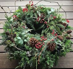 Dense and lush Christmas wreath. Christmas Door Wreaths, Christmas Greenery, Christmas Time, Christmas Crafts, Lush Christmas, Deco Floral, Diy Wreath, Xmas Decorations, Christmas Inspiration