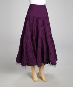 Another great find on #zulily! Purple Tulle Layered Maxi Skirt by Roja #zulilyfinds  $32.99