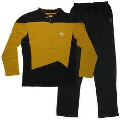 Star Trek Next Generation Operations Pajama Set Medium. Star Trek: The Next Generation Operations Pajama Set. Embroidered Communicator Badge and Rank Pips. Trek Deck, Star Trek Original, Sleep Set, Getting Cozy, Pajama Set, Adidas Jacket, Cool Outfits, Stars, Mens Tops