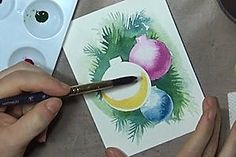 An online community for art stampers and scrapbookers Watercolor Christmas Cards, Christmas Card Crafts, Watercolor Cards, Xmas Cards, Christmas Art, Watercolor Tips, Holiday Crafts, Diy Cards Tutorial, Card Tutorials
