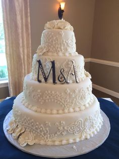 Beautiful design using fondant icing made by the Sand Springs pastry chef.