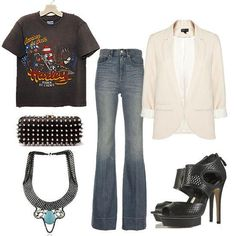 girls' night out outfit or casual outing {rocker}