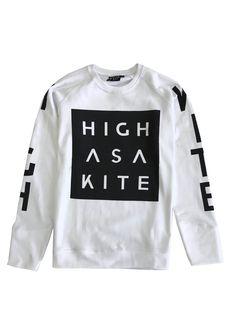 Sweater with print, merch from the Norwegian band Highasakite. Made by: Black Rat Clothing - Oslo. Designer Siri Sveen Haaland.
