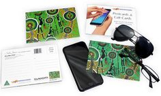 Colin Jones Hunters and Gatherers Rainforest Microfibre Cloth Post Card