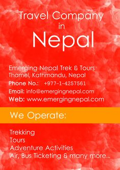 Nepal Travel Services: #travel #tours #trekking #holidays by Emerging Nepal Trek & Tours.