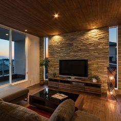 Home Room Design, Home Interior Design, House Design, Tv Wall Design, Living Room Modern, Home Living Room, Living Room Decor, Living Room Tv Unit Designs, Small Apartment Interior