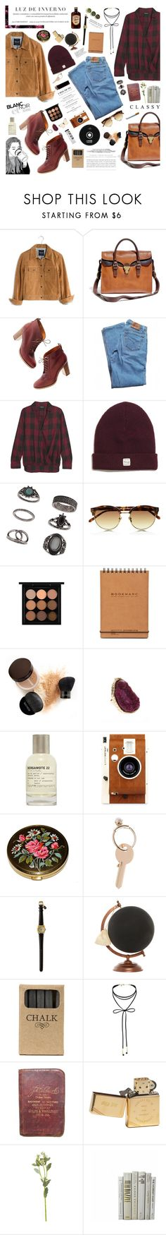 """""""Modern indie"""" by ginny-mckenzie ❤ liked on Polyvore featuring Madewell, Levi's, Topshop, Linda Farrow, MAC Cosmetics, Marc, Laura Mercier, Kerr®, Hedi Slimane and River Island"""