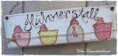 """☆......+Türschild+""""Hühnerstall.....☆++von+Villa+Kruschtelbunt+auf+DaWanda.com"""