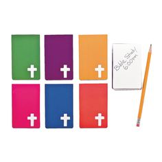 Religious Notepads with Cross Cutout - OrientalTrading.com