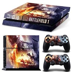 Ps4 Playstation 4 Console Skin Decal Sticker Battlefield 1  2 Controller Skins Set *** Read more reviews of the product by visiting the link on the image.(It is Amazon affiliate link) #commentall