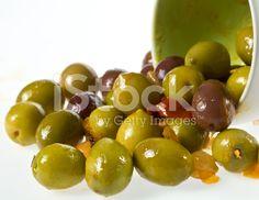 Mixed marinated olives royalty-free stock photo