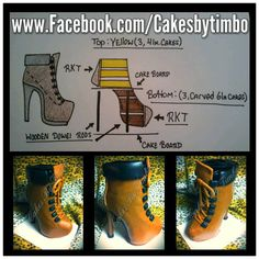 How to do a Boot Carved Cake from Cakes by Timbo