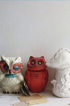 I want that one in the corner-- winking.  A Real Hoot Canister - Anthropologie.com