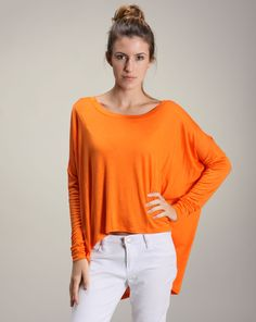Dina says: Nothing is better for casual wear than a slouchy top in a bright color. Perfect for lounging around or a casual day out. Casual Wear, V Neck, Bright, How To Wear, Color, Tops, Women, Fashion, Casual Outfits