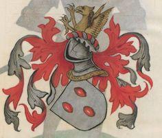 Armorial de la Table ronde.  Date d'édition :  1490-1500  Ms-4976  Folio 163r