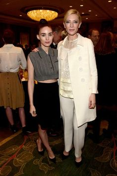 Rooney Mara and Cate Blanchett embrace at the 16th Annual AFI Awards.