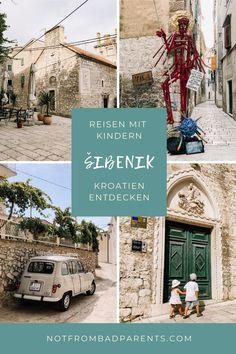 Wir nehmen Euch mit in die mittelalterliche Stadt Šibenik, welche neben Zadar eine der größten Metropolen im Norden der Region Dalmatien ist. Reisen In Europa, Blog, Travel, Macedonia, Traveling With Children, Medieval Town, Family Vacations, Parents, Travel Advice