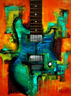 Original Painting MADE TO ORDER by S.Lazo Forever 30 x 40 Original Acrylic Painting 1 Deep GALLERY WRAP stretched canvas I am now offering Custom Request for this painting (art shown is sold) I can commission a piece in the same style as this. Guitar Painting, Guitar Art, Painting Art, Art Paintings, Art Music, Watercolor Art, Cool Art, Art Projects, Contemporary Art