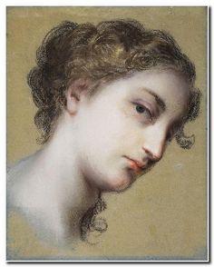 Head of a dark-haired woman (pastel)  // Rosalba Carriera, St. Petersburg, Hermitage