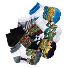 Teenage Mutant Ninja Turtles 6-pk. 1/4-Crew Socks - Toddler