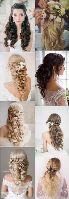 40 Stunning Half Up Half Down Wedding Hairstyles with Tutorial / http://www.deerpearlflowers.com/15-stunning-half-up-half-down-wedding-hairstyles-with-tutorial/40 Stunning Half Up Half Down Wedding Hairstyles with Tutorial / http://www.deerpearlflowers.com/15-stunning-half-up-half-down-wedding-hairstyles-with-tutorial/