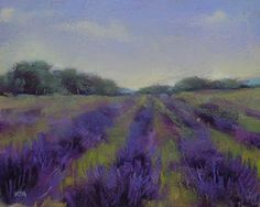Painting My World: Lavender Fields 8x10 pastel