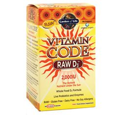 Garden of Life Vitamin Code Raw D3 - love this line of products for B12, Multivitamin etc..