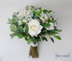 wedding flowers, wedding bouquet, eucalyptus bouquet, silk bouquet, bridal bouquet, rustic bouquet, boho bouquet, ivory, white, green Floral Wreath, Silk, Floral Crown, Garlands, Flower Crown, Garland