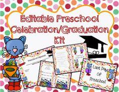 Editable kindergarten graduationcelebration printables editable preschool graduationcelebration printables yelopaper Images