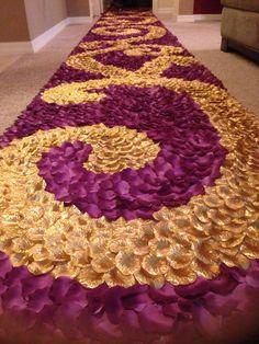 Party at Gatsby'sPurple & Gold Silk Rose Petal by PetaleDeRose, $200.00