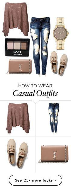 """""""Casual Chic"""" by mrudula-26 on Polyvore featuring Keds, Yves Saint Laurent, Marc Jacobs and NYX"""